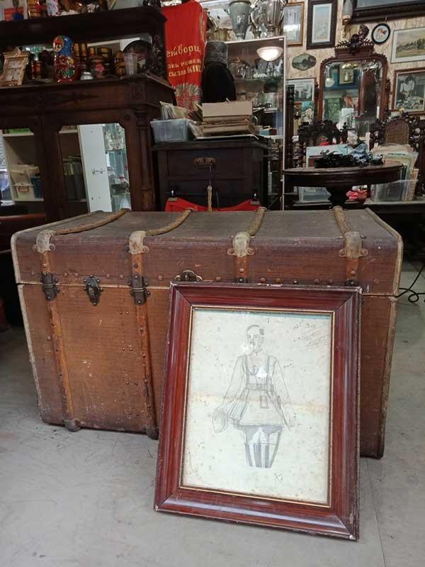 Антикварный чемодан