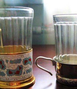 Граненный стакан с подставкой