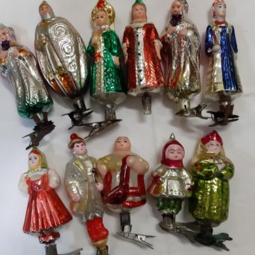 Набор елочных игрушек СССР