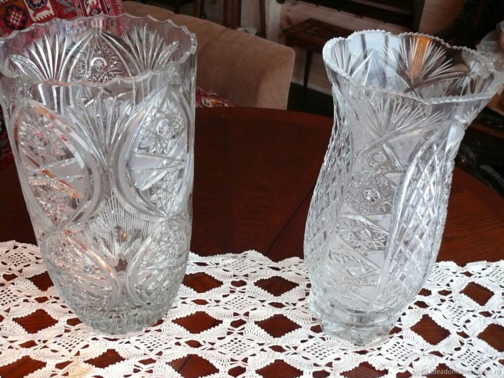 Хрустальные вазы СССР